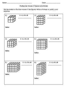 Volume Introduction Worksheet   Volume worksheets ...