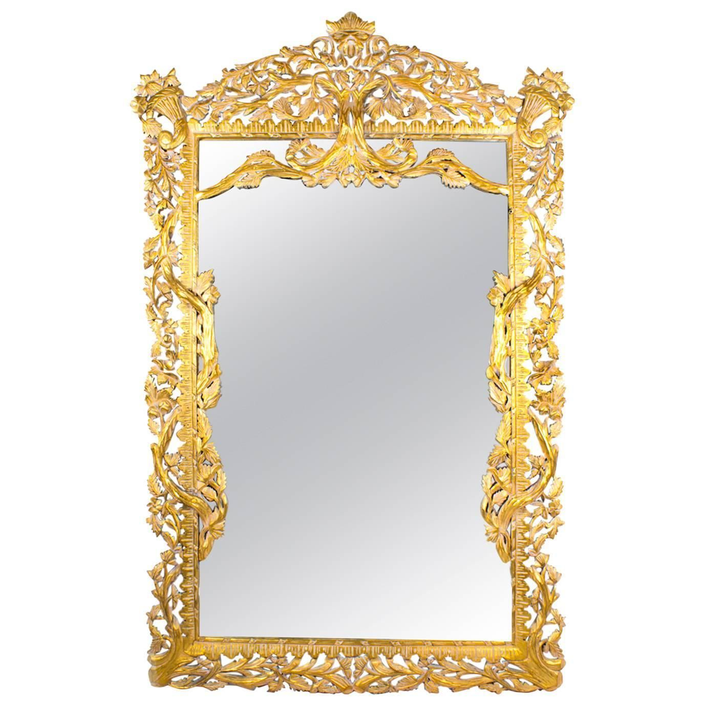 Vintage Huge 8FT Decorative Rectangular Giltwood Mirror | Mirror ...