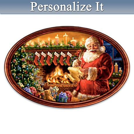 Cherished Christmas Memories Personalized Collector Plate Christmas Artwork Old Fashioned Christmas Personalized Christmas Gifts