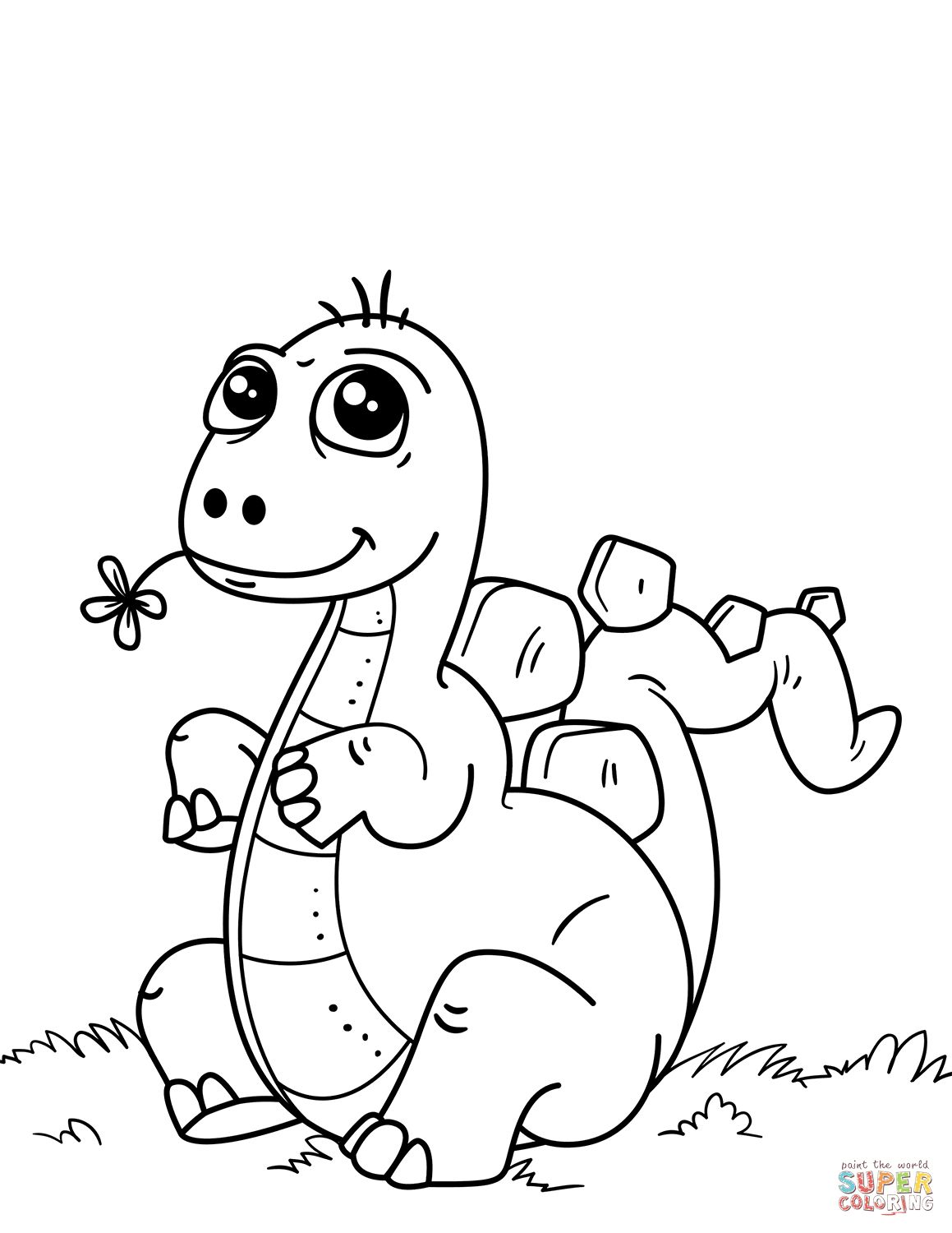 Dinosaur Coloring Pages Cute Little Dinosaur Coloring Page