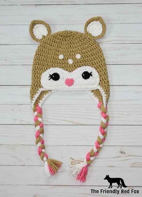 Free Crochet Little Deer Hat Pattern Pinterest Free Crochet