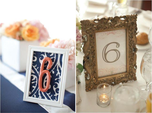 Wedding Table Number Galore Framed Numberswedding