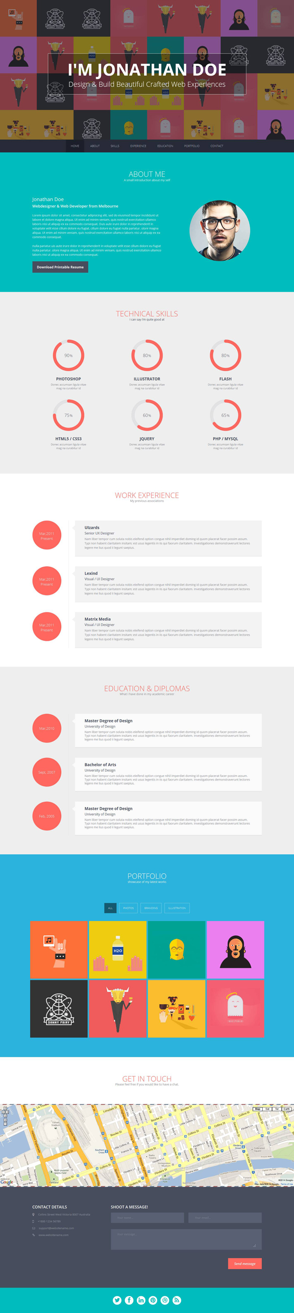 Flato free responsive online cv resume templates photoshop flato free responsive online cv resume templates yelopaper Choice Image