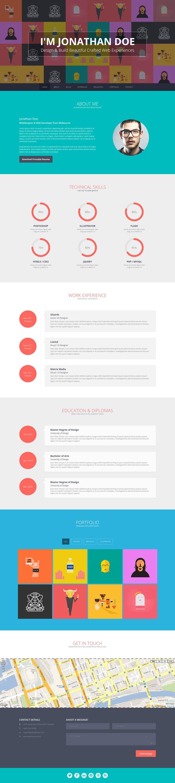 Flato  Free Responsive Online Cv  Resume Templates  Photoshop