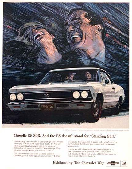 Chevrolet Chevelle SS 396 SS Standing Still 1966 - Mad Men Art: The 1891-1970 Vintage Advertisement Art Collection