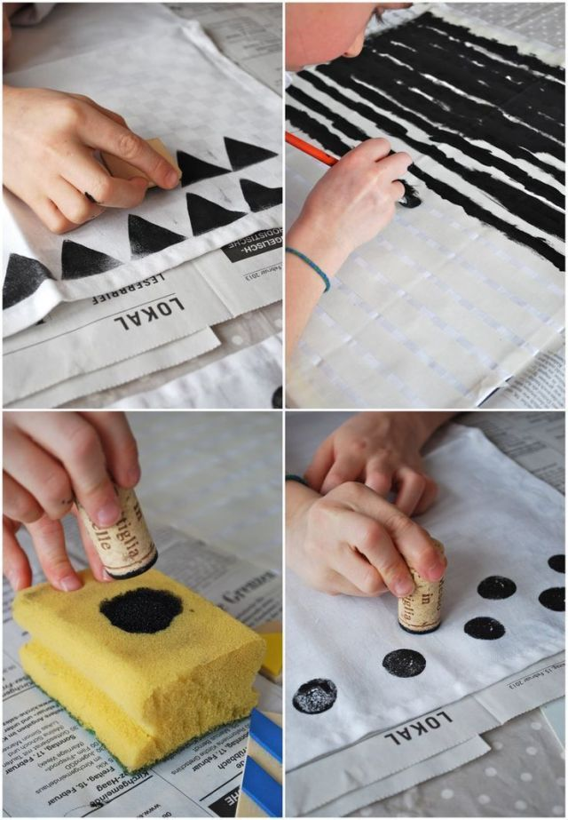 How To Print Diy Patterned Fabric Printed Napkins Fabric Stamping Printing On Fabric