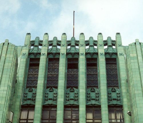 The art deco tour is an in depth look at the history for Art deco building materials