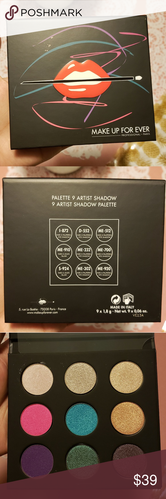 Sephora Makeup Forever eyeshadow palette Artistic (With