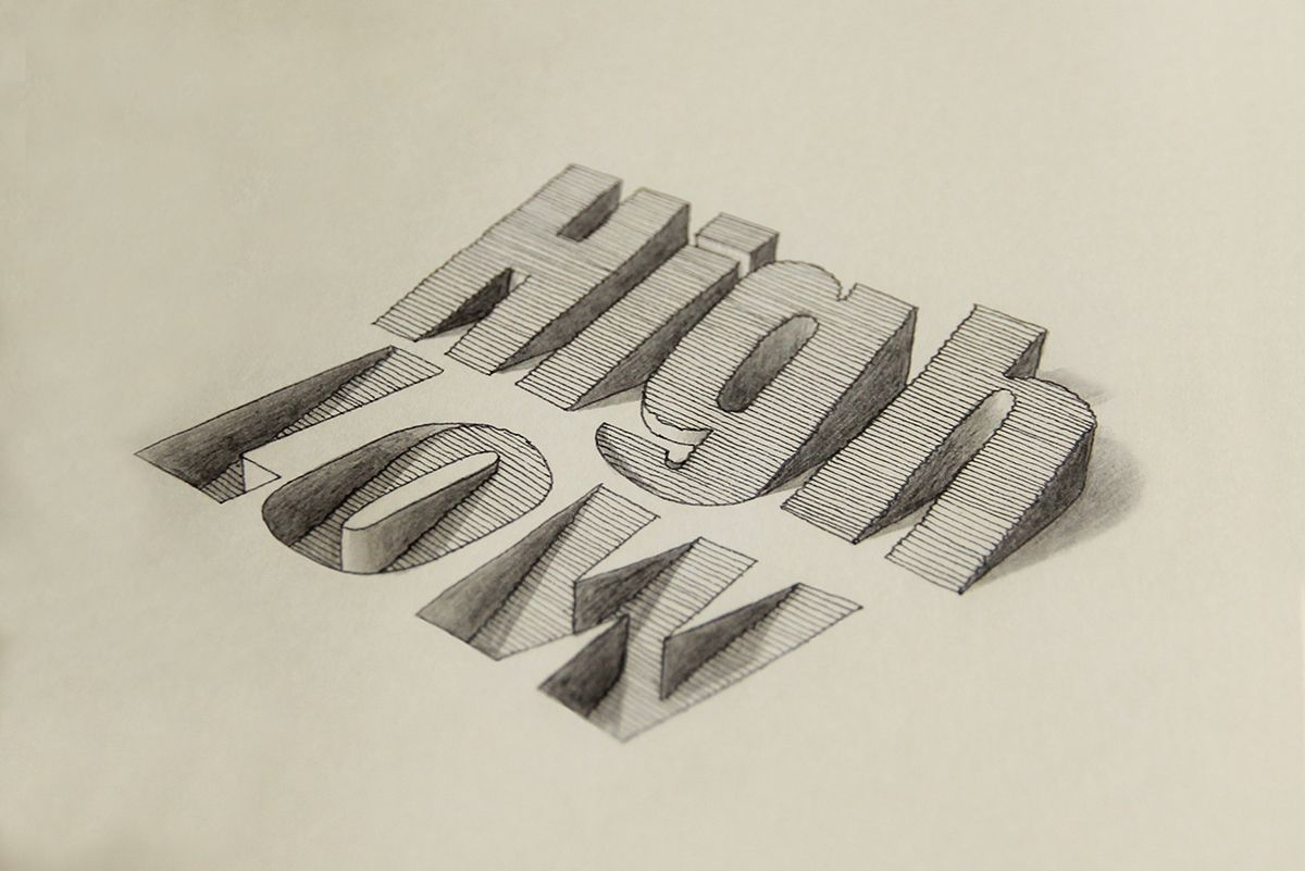 3D Typography by Lex Wilson  #police #design #graphic #illustration #3d #typo #typography