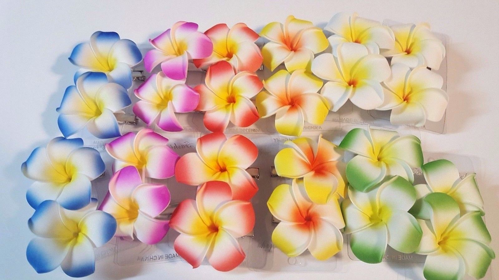 Hawaiian Plumeria Flower Foam Hair Clip Zirconia Fashion Hair Accessory Artificial Flowers Flower Warehouse Silk Flowers Wholesale