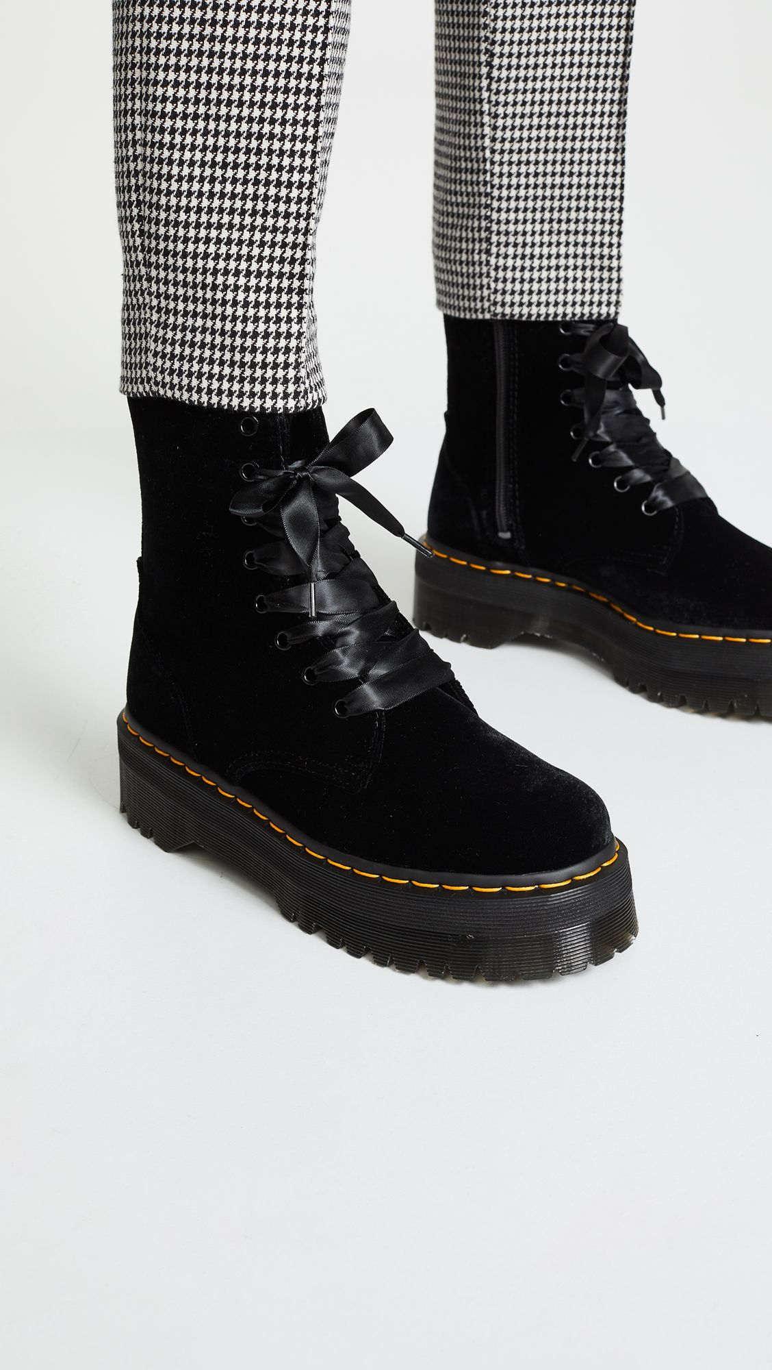 classic styles fashion styles biggest discount Jadon 8 Eye Velvet Boots in 2019 | Lace combat boots, Boots ...