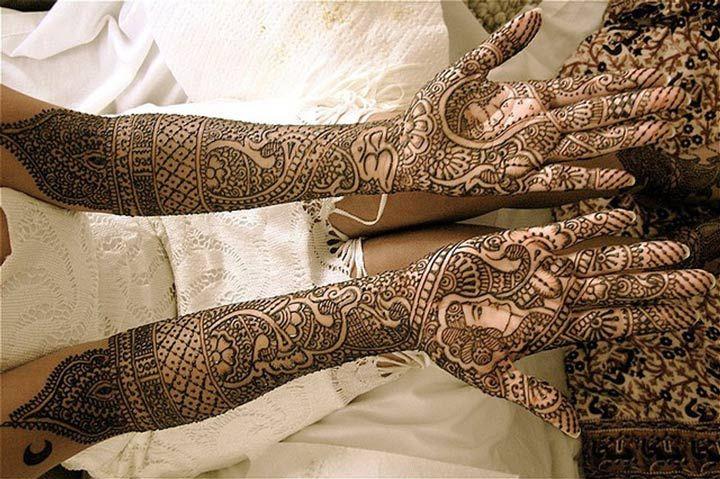 Dulhan Mehndi Designs For Full Hands 2014 : Full hand dulha dulhan mehndi design by asha savla priya wedding