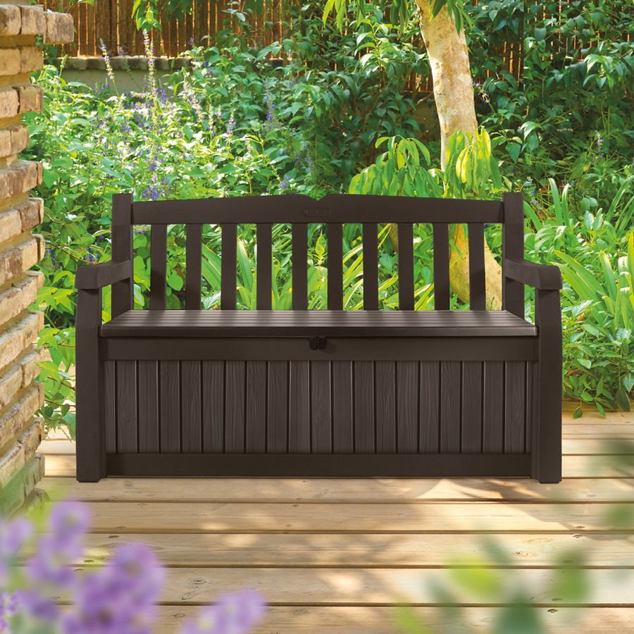Shop Keter 54 6 In L Resin Patio Bench At Lowes Com Garden