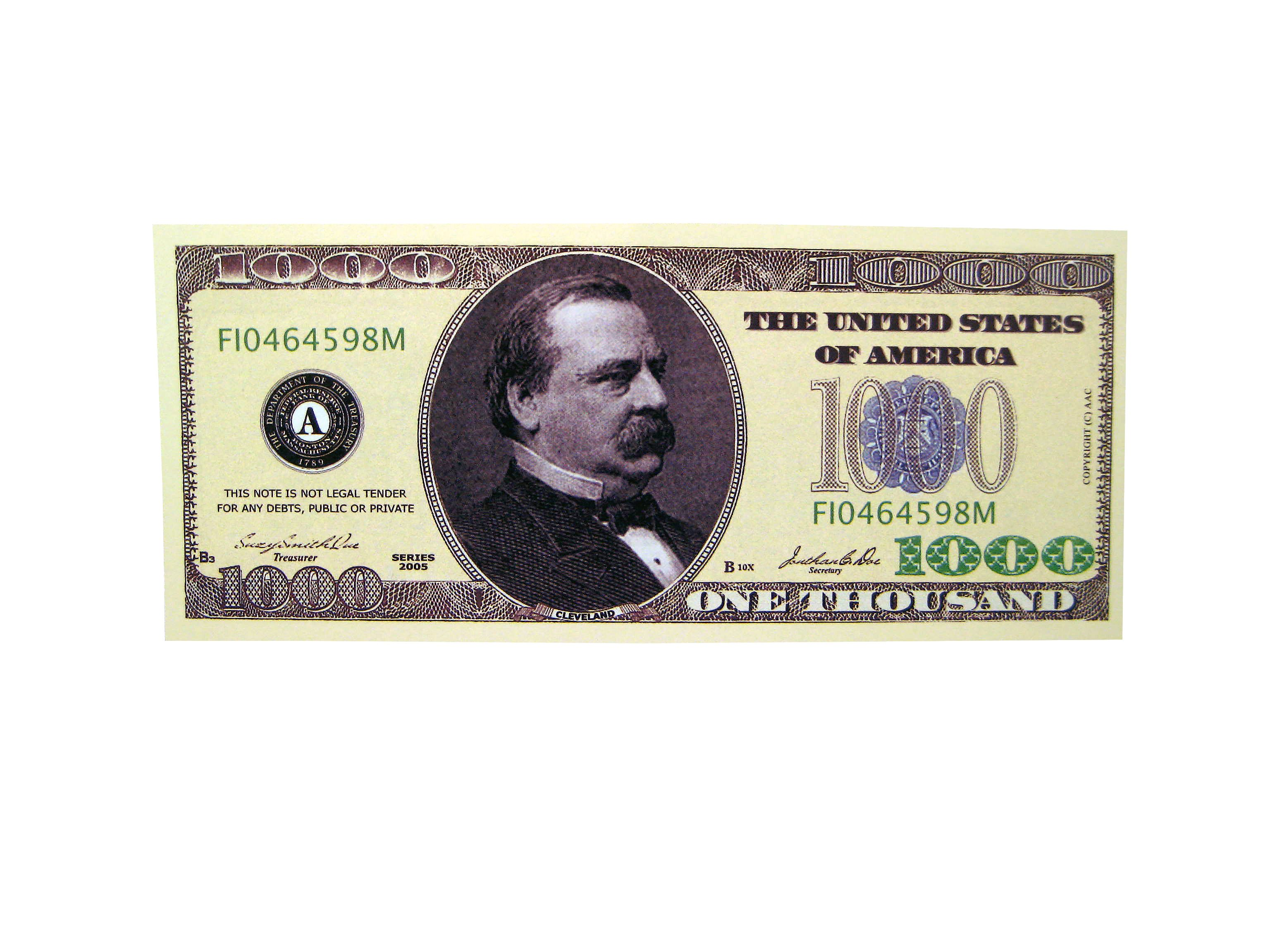 fake thousand dollar bill novelties pinterest what i want