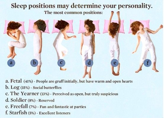 Sleep position Your sleep position may define your personality - define excellent