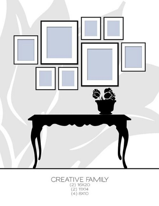 Agencer une galerie photo | design | Pinterest | Gallery wall ...