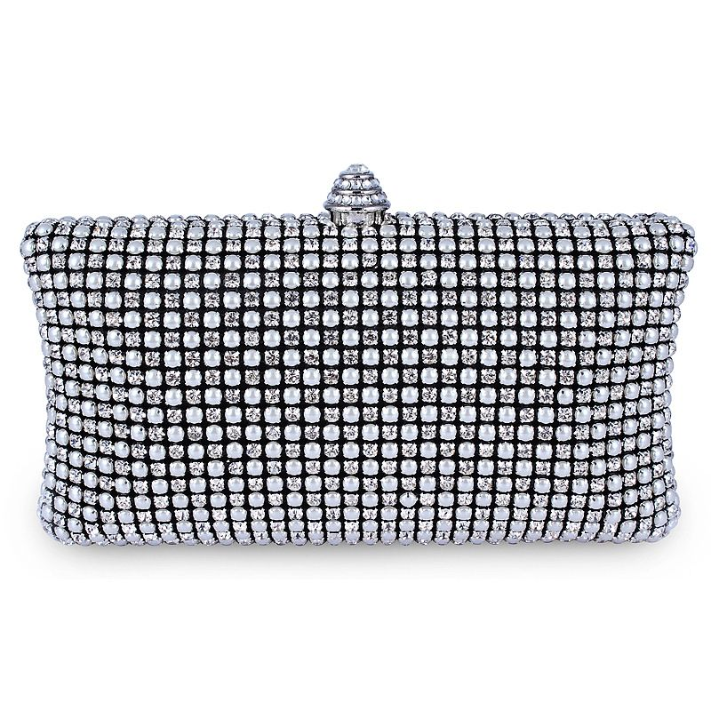 Full Crystal  pearl Evening Clutch Bag 2013 New Design with  Wedding Party Bag Wholesale Boutique DC1989 64967-25