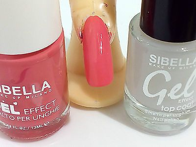 Dettagli Su Gel Smalto Unghie Super Color Rosa Salmone Top Coat