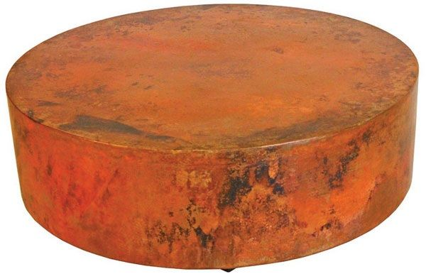 Exceptional Round Hand Hammered Copper Coffee Table   Item #CT03150   Custom Sizes    Eco