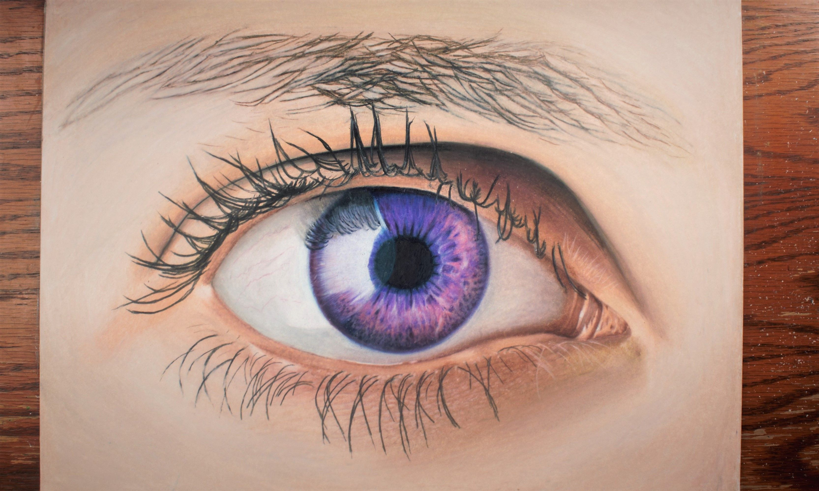 Drawing A Realistic Human Eye With Colored Pencils