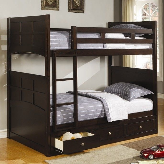 Wildon Home ® Twin over Twin Bunk Bed with Built-In Ladder & Reviews | Wayfair