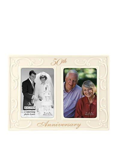 Malden 50th Wedding Anniversary 2 Up 3.5-in. x 5-in. Frame ...