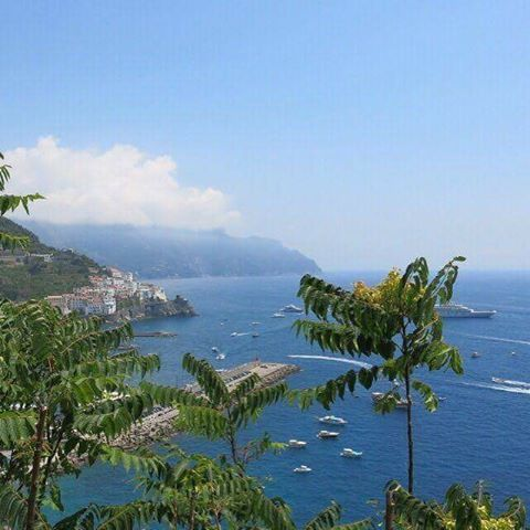 That's Amalfi! At last! On the path of the ancient republic. For…