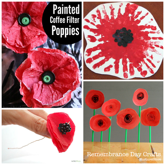 remembrance day poppy crafts #remembrancedaycraftsforkids