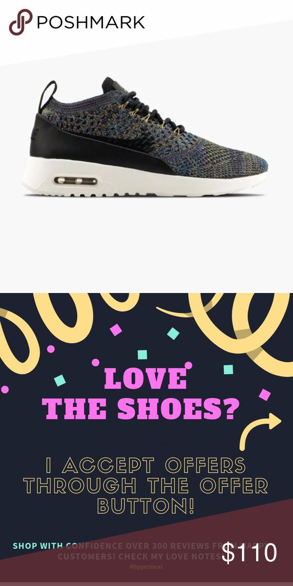 Nwt Nike Air Max Thea Ultra Flyknit Running Shoe