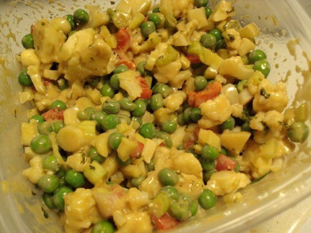 Cauliflower and Baby Pea Salad
