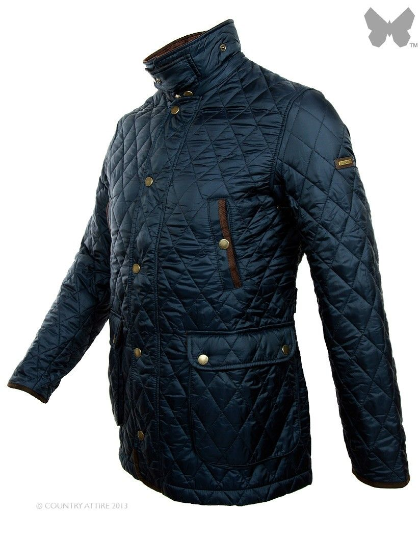dd6b65f73 Hackett Men's British Paddock Quilted Jacket - Navy | Quilted Mens ...