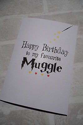 Personalised Birthday Card Best Friend Boyfriend Girlfriend Harry Potter