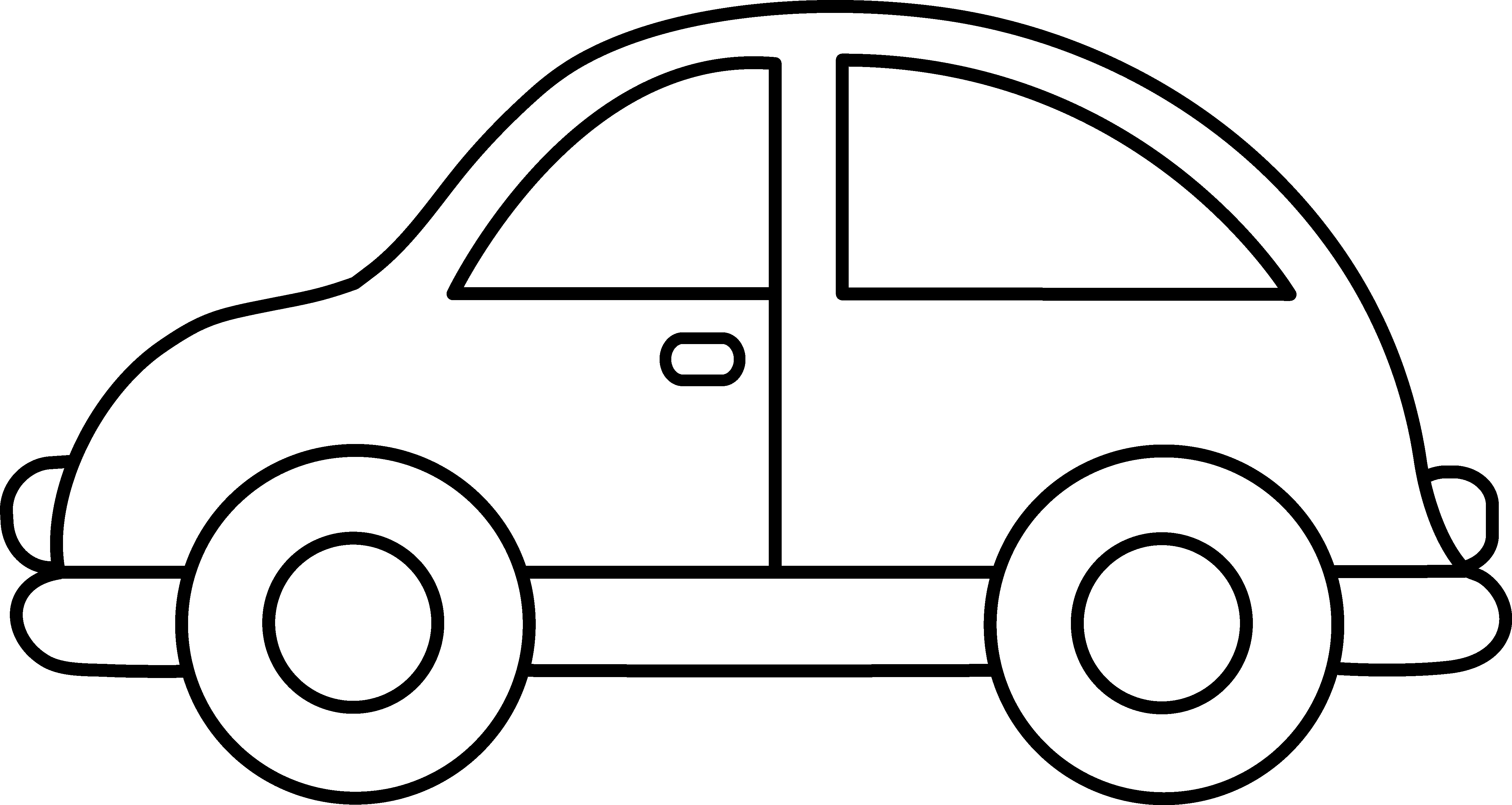 Black And White Front View Car Template