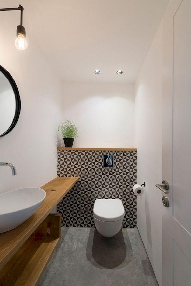 59+ Clean & Modern Powder Room Design Ideas - #Clean #Design #Ideas #modern #Pow..., #BagnoM...