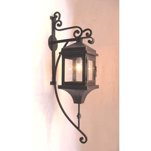 Grand hacienda hand painted bronze exterior wall lantern santangelo lighting design wall m
