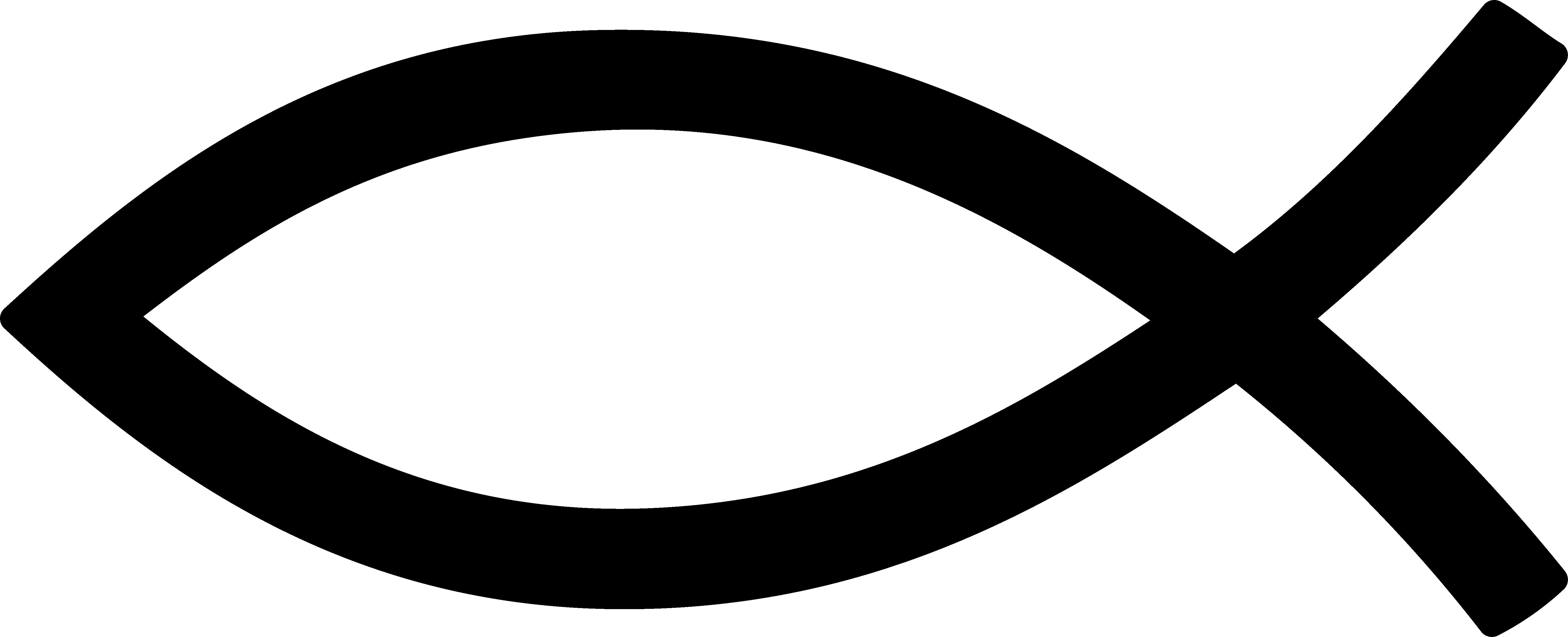 Christian Fish Symbol Black Png 6075 2467
