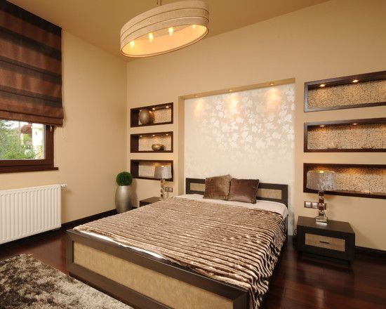 Bedroom Wall Niche Design, Pictures, Remodel, Decor and