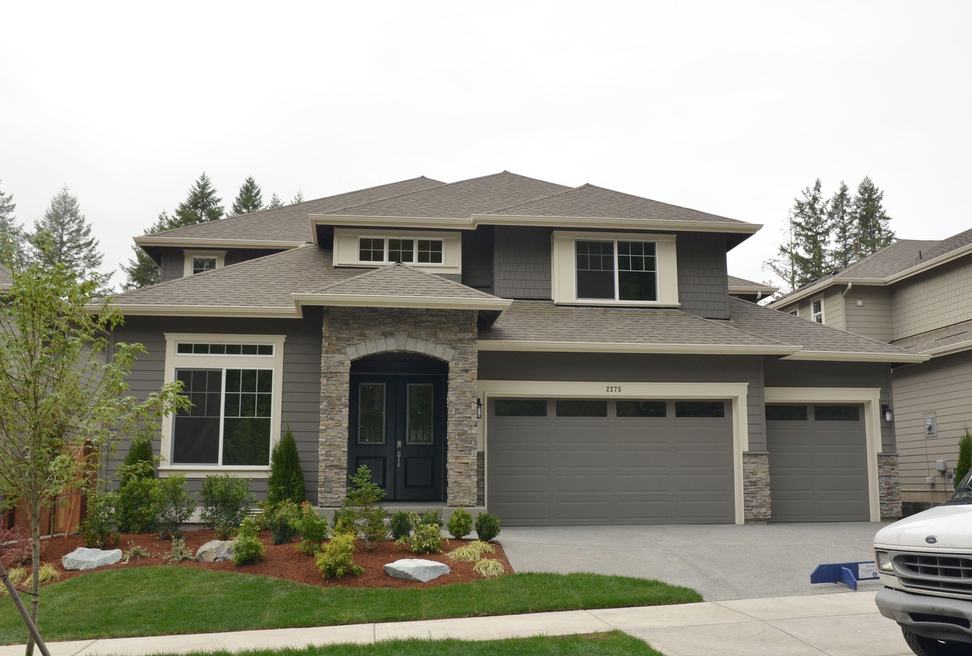 Pl03 Rosario B Exterior Home Color Gaunlet Grey By Sherwin