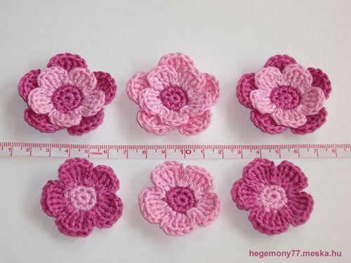 flor rosa de crochê | Crochê | Pinterest