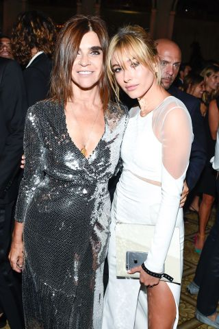 Carine Roitfeld and Hailey Baldwin at the Harper's BAZAAR Icons party. See more red carpet photos from the New York Fashion Week party here: