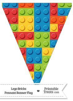 Lego Bricks Pennant Banner Flag from PrintableTreats.com ...