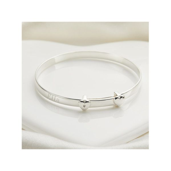 Molly Brown London Girls First Holy Communion 925 Sterling Silver /& 1pt Diamond Love Heart Bracelet
