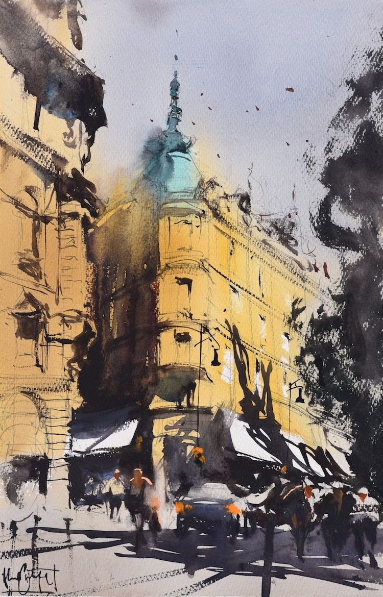 Watercolorist Captures The Essence Of Different Cities In