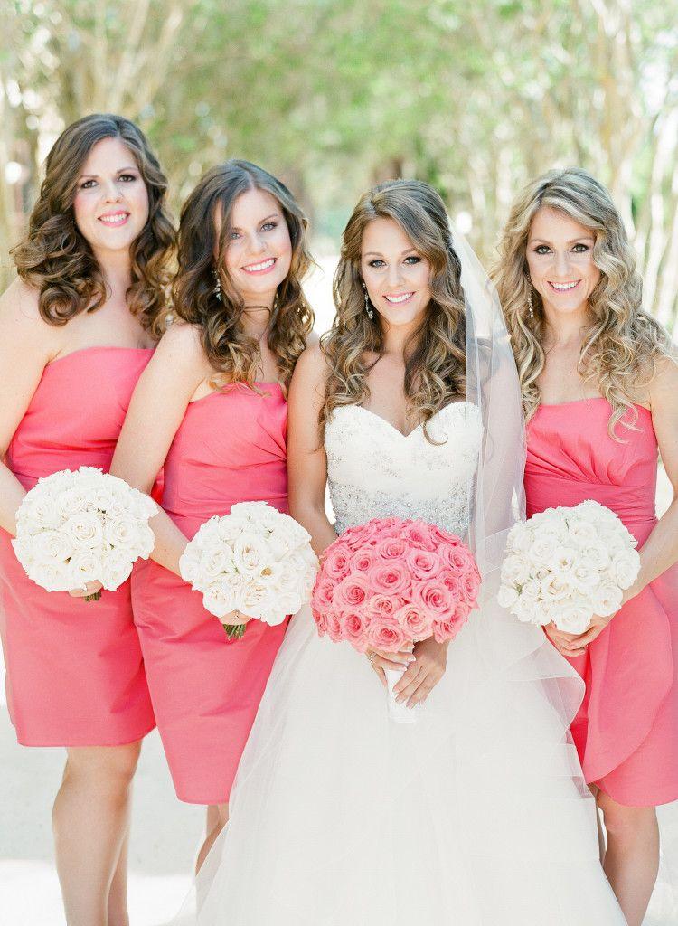 Short C Bridesmaid Dresses Real Florida Weddings Renée Claude Cardinal And Kevin James Melnuk Ilrated