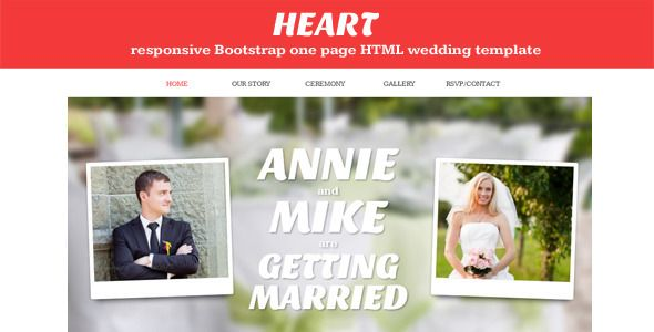 Heart One Page Wedding Invitation Template Concrete5 Version Problem With Contact Form Set Up