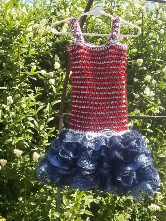 Toddler Dress. Attach Sashay Yarn to Store Bought Tank Top? | tricot ...