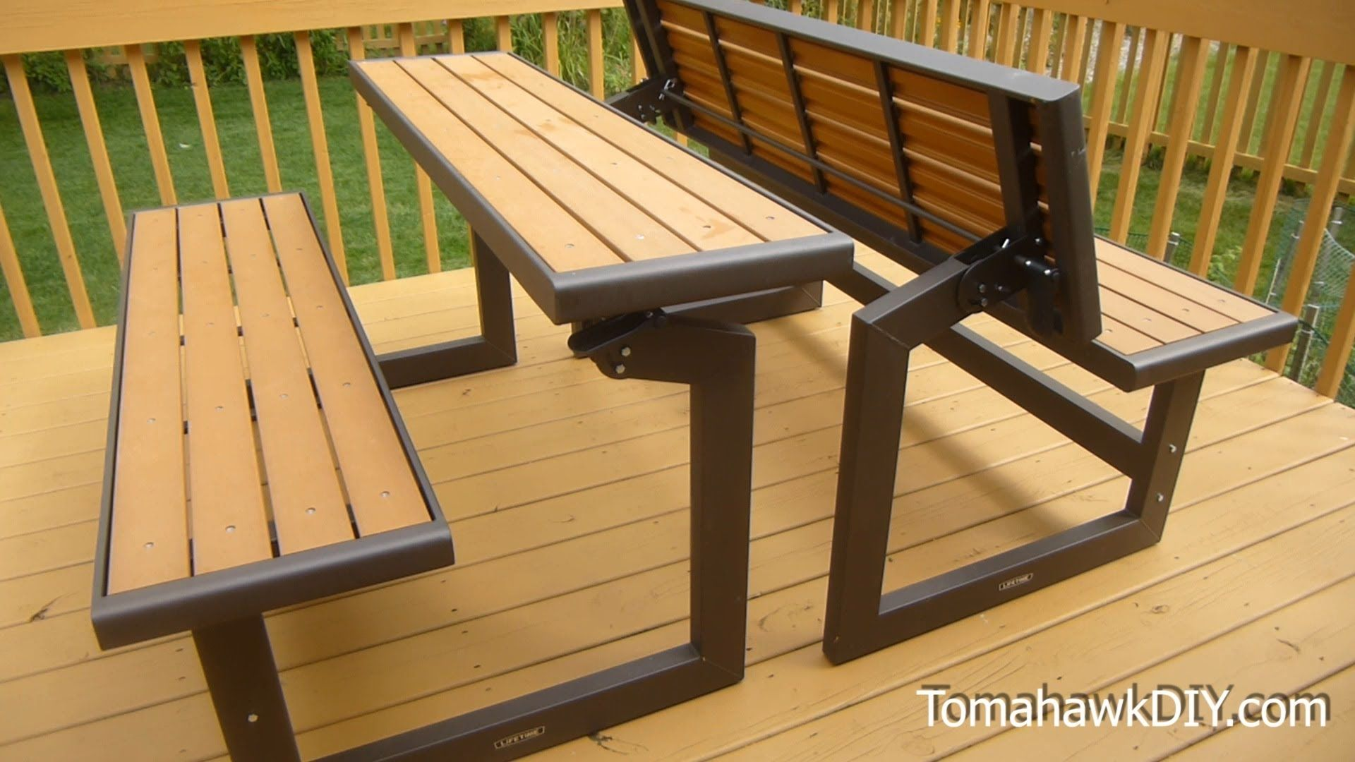 Awesome Convertable Picnic Table Bench Review Patio