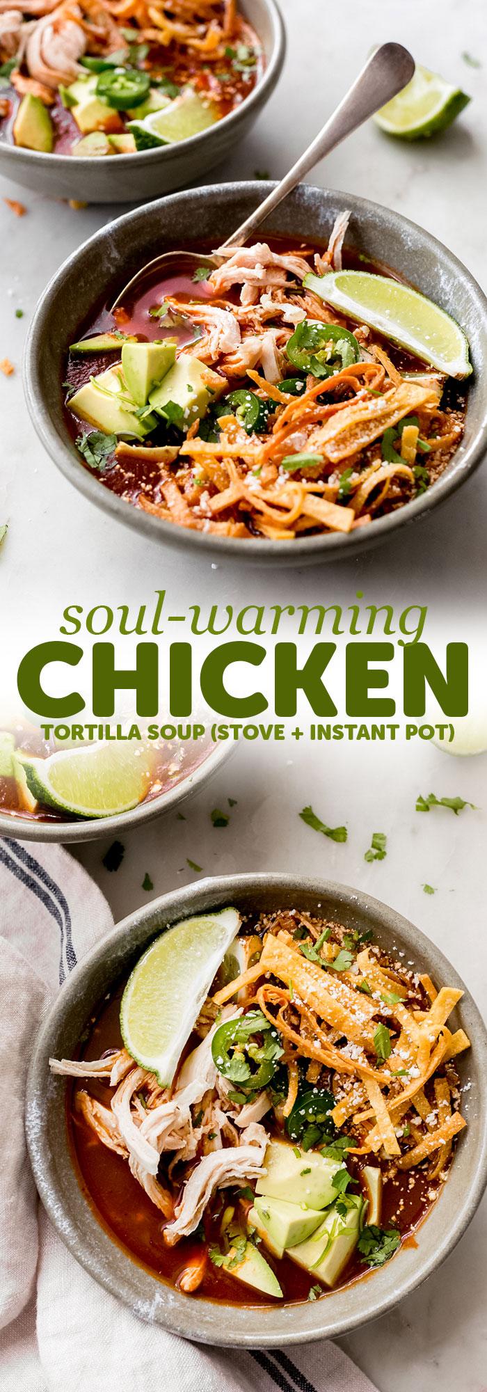 Soul-Warming Chicken Tortilla Soup Recipe - Little Spice Jar