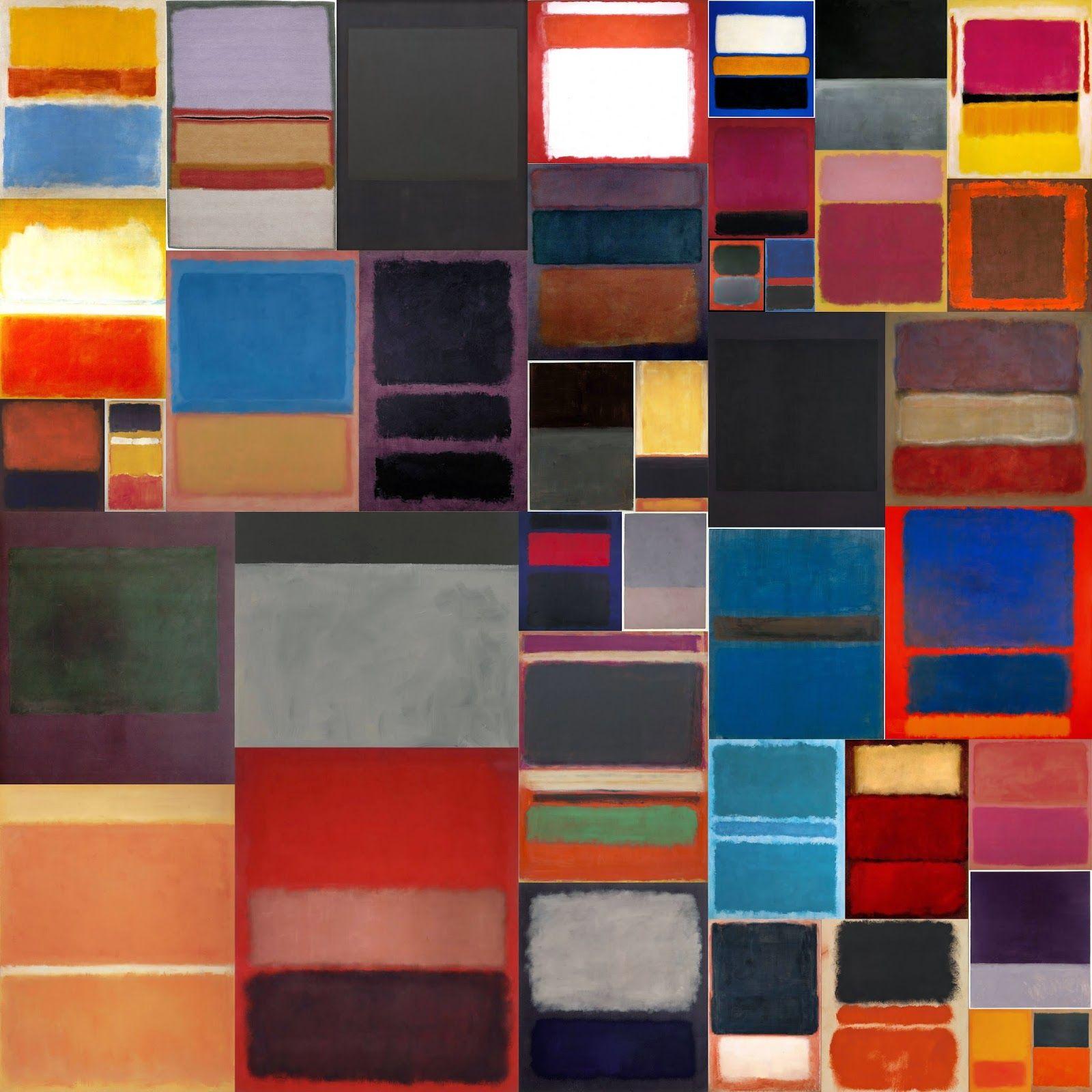 Mark Rothko Collection IX (square color field)