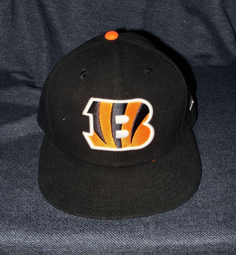 244e83682a1 NEW Official NFL New Era Cincinnati Bengals Classic Logo Fitted Men s 7 1 4  Cap